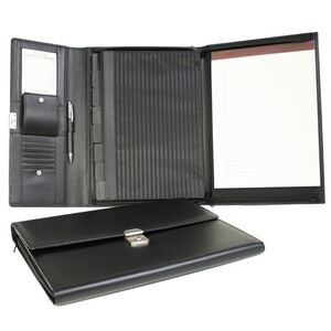 Ultra Bonded Leather Padfolio File Organizer