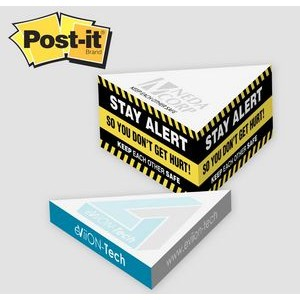 "Post-it® Notes Custom Printed Slim Triangle Cube Note Pad (3 3/4""x3 3/4"")"
