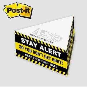 "Post-it® Notes Custom Printed Half Triangle Cube Note Pad (3 1/4""x3 1/4""x1 3/4"")"