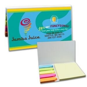 SimpliColor Sticky Notes w/ Flags - Sticky Note Pad and 5 Flag Colors (Digital Full Color)