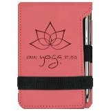 Note Pad & Pen Set - Pink w/ Black Engraving