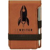 Note Pad & Pen Set - Rawhide w/ Black Engraving