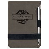 Note Pad & Pen Set - Gray w/ Black Engraving