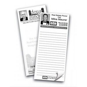 "Economy Notepad 3 1/2"" x 8"" Black Imprint Notepads - 25 Sheets"