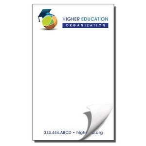 "3 5/16"" x 5 1/2"" Value Full-Color Notepads - 25 Sheets"