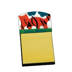 5.38 x 3.13 Black Sticky Note Holder with Full Color Insert