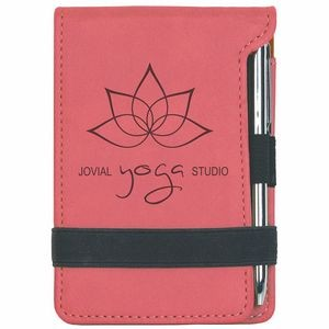 3.25x4.75 Pink Leatherette Pad/Pen